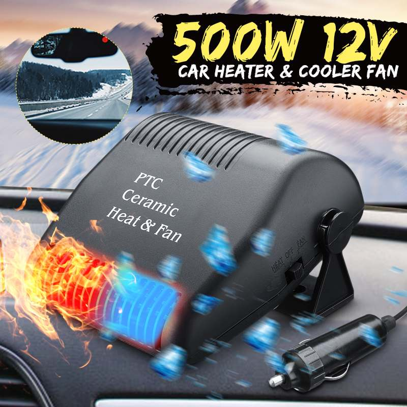 Universal Portable Car Heater Defroster Winter 12V 300W 2 In1 Auto Car Heater Cooling Fan Windshield De-Icers Demister