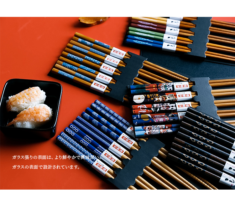5/20 пар портативные японские палочки для еды из натурального