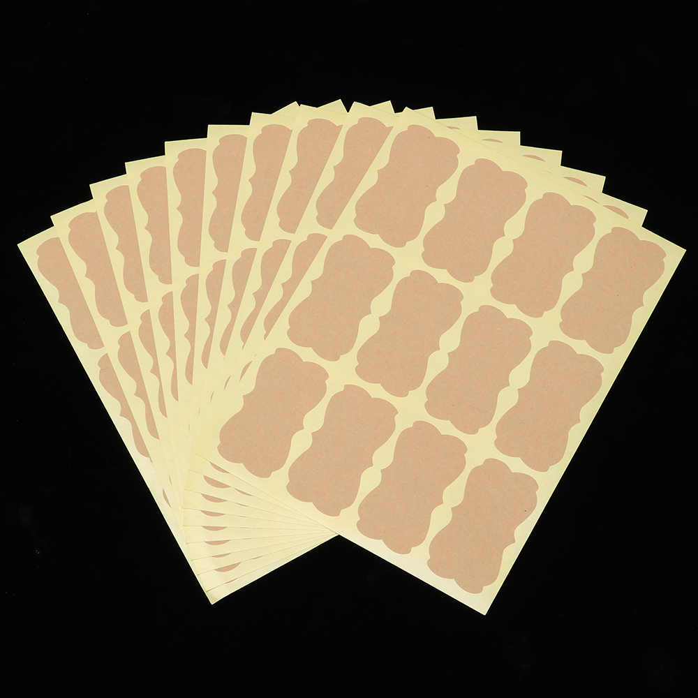 Decoration Creative Kraft Paper Labels Stickers Packaging Seals Blank Sticky