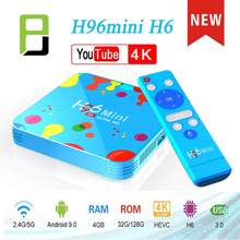TV Boxing New Android 9.0 box H96 MiNi H6 Smart TV Set Top Box 4G 128GB WiFi 2.4G/5G Bluetooth HD Media Player Youtube sunvell t95z plus android 7 1 smart tv box 2 4g 5g wifi bluetooth 4 0 set top box android tv box 2g 16g 32g smart media player
