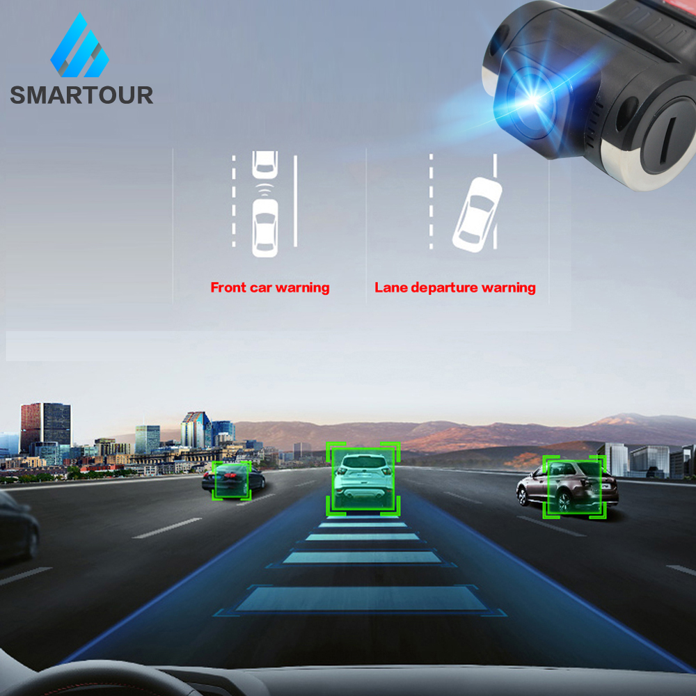 Smartour Car DVR Camera USB Connector Vehicle 1280 * 720P DVRs For Android OS System Mini Car Driving Recorder Camera With ADAS