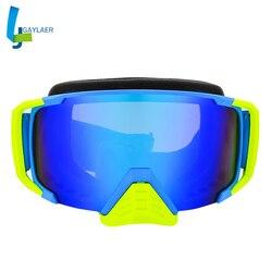 JAER Unisex Racing gogle z osłona nosa óculos MX Off-Road sportowy motocykl kask okulary okulary wiatroszczelna okulary