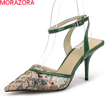 MORAZORA 2020 New arrival high heels party wedding shoes top quality elegant women pumps summer shallow ladies shoes