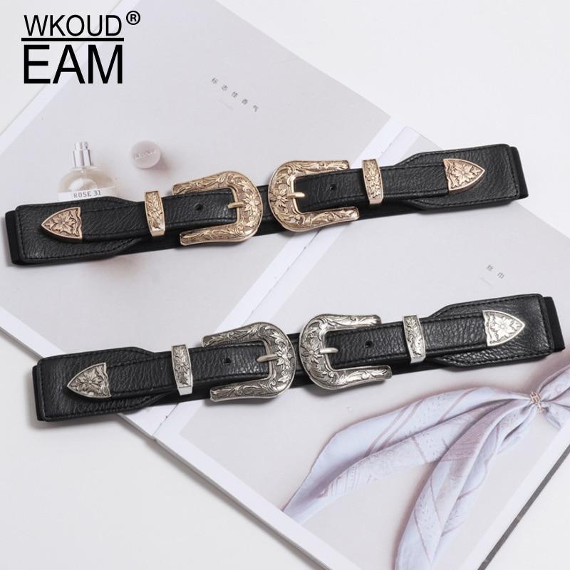 2020 PU Leather Corset Belt New Design Belts For Women Stylish Wide Belt Carved Buckle Belt High Fashion Waistband Female ZK596