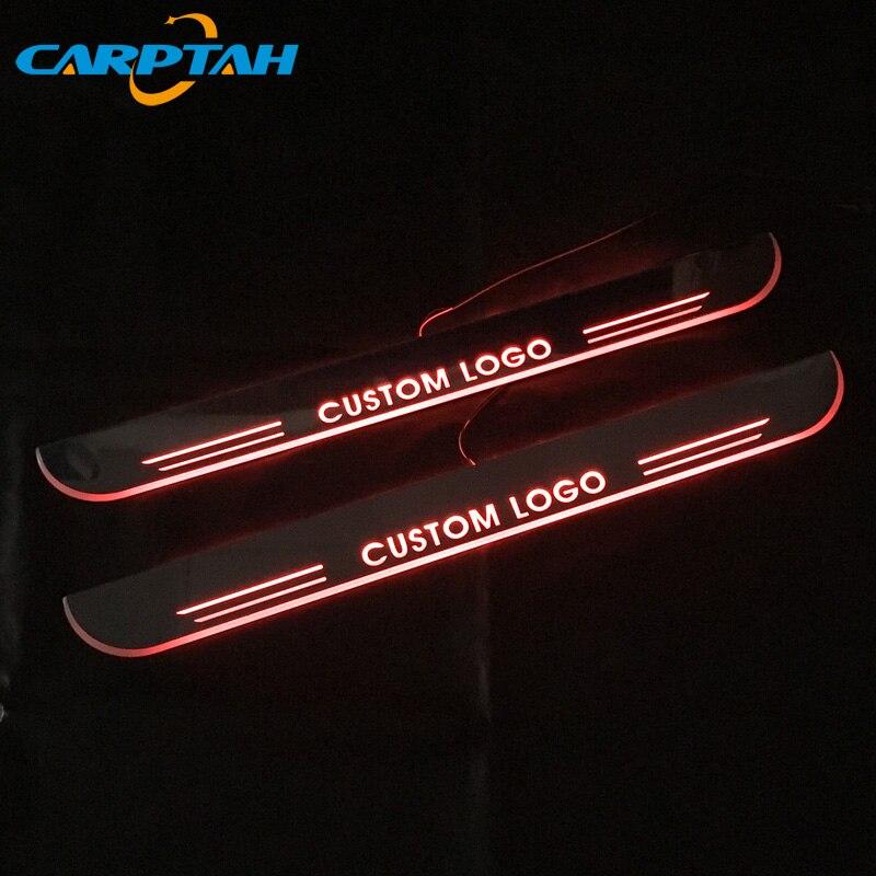 Отделка педали автомобиля наружные части светодиодный порог Накладка тропинка динамический стример светильник для SEAT LEON ARONA ATECA IBIZA FR