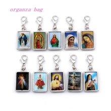 50 шт двухсторонний браслет с изображением Иисуса Христос плавающие