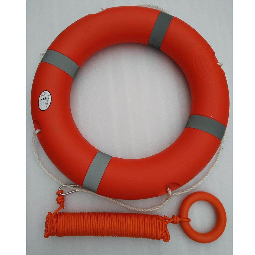 Boia de flutuação de borracha do anel da água da segurança para a nadada marinha da vela do barco