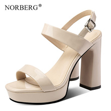 NORBERG leather shoes sandals high heels fashion women's shoes nightclub shoes black sandals Roman style high heels mature temptation mysterious sexy fashion ultra high documentary shoes black roman style hollow out super high heels