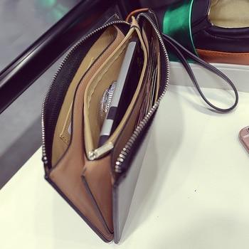 Oil Wax Leather Zipper Wallet  4
