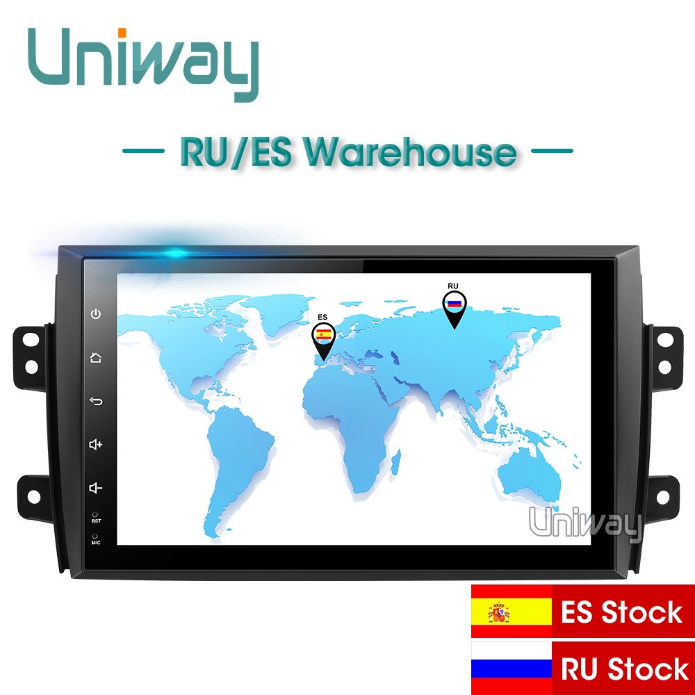 Uniway SX4 ATY9071 Android 8.1 dvd carro para Suzuki 2006 2007 2008 2009 2010 2011 2012 2013 gps rádio do carro navegação