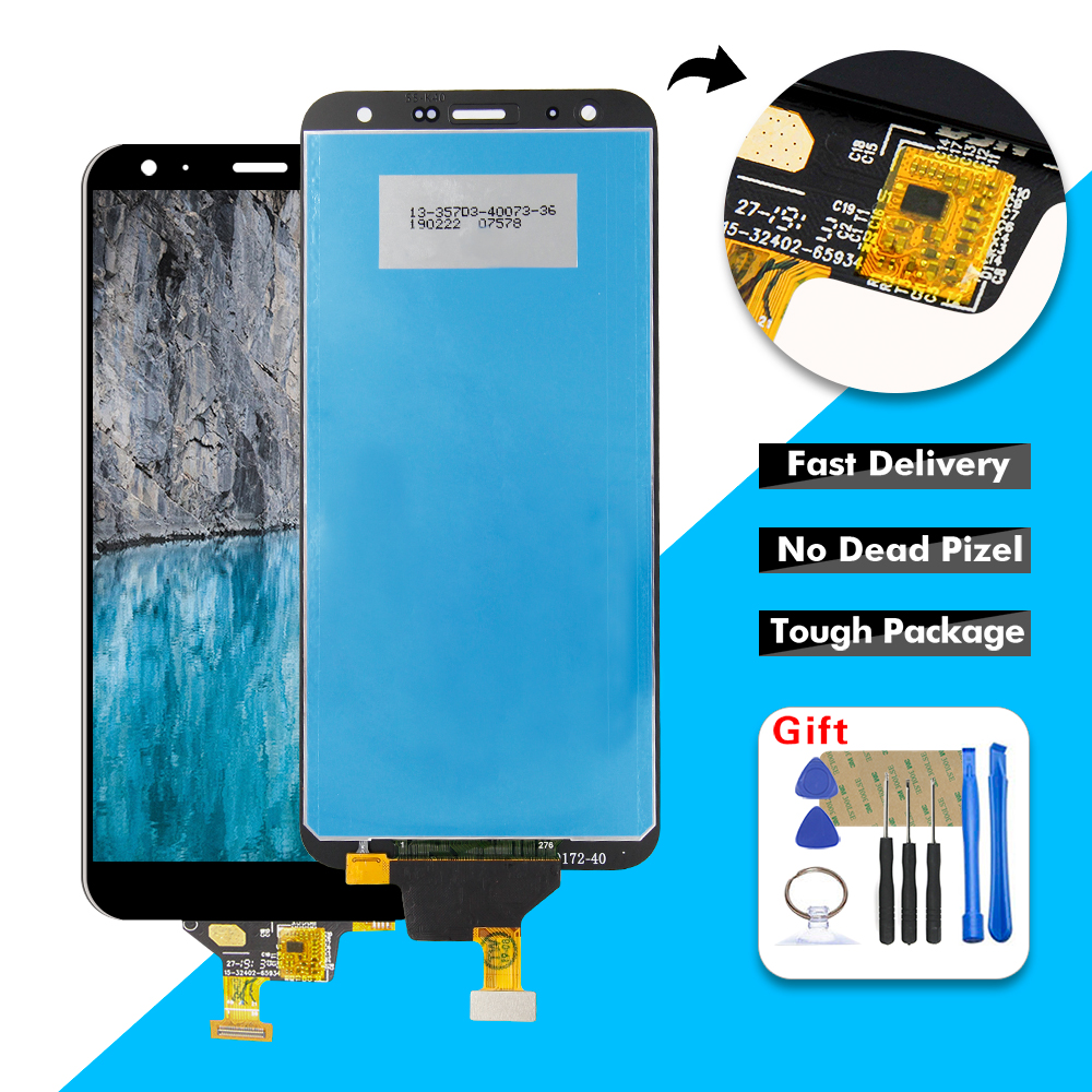 For LG K40 2019 / K12 Plus X420 LMX420EM Touch Screen Digitizer LCD Display Assembly With Frame + Tools