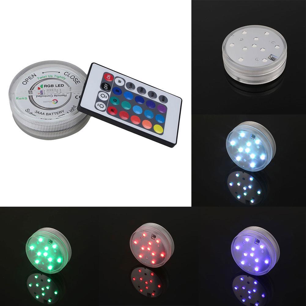 LED-Light Lamp Multi Color Waterproof Remote Control Wedding Tank Decorative Submersible