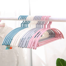 5/10 Household Plastic Hangers Adult Children Clothes Drying Rack Bathroom Closet Space Saving T-shirt Coat Skirt Storage Rack