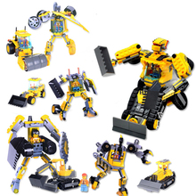 Deformation engineering car robot boy interactive small particles assembled building blocks toy 8030 hasbro transformers genuine mb 14 megatron boy toy deformation robot