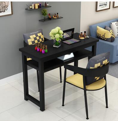 Маникюрный Стол и стул набор простой современный двойной черный маникюрный магазин стол специальная цена ретро Маникюрный Стол одиночный - Цвет: 120 cm 2 chairs
