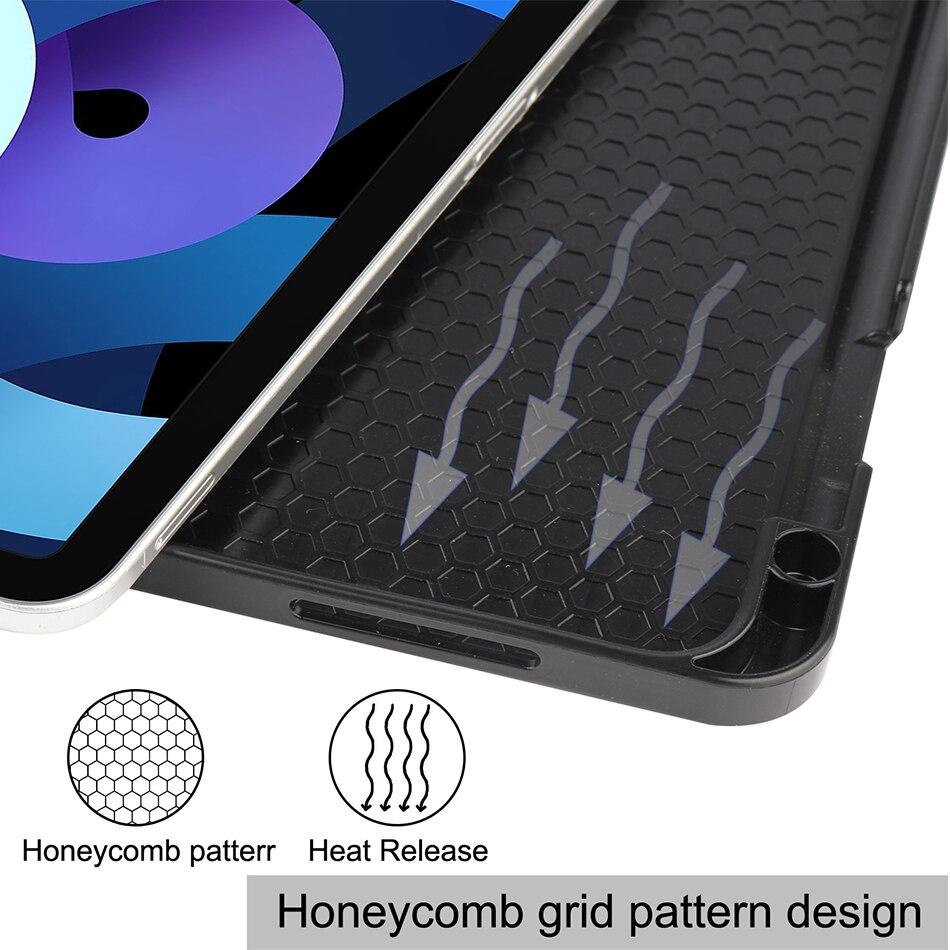 MTT Tablet Case For iPad Air 4th Generation 10 9 inch Soft TPU PU Leather Flip