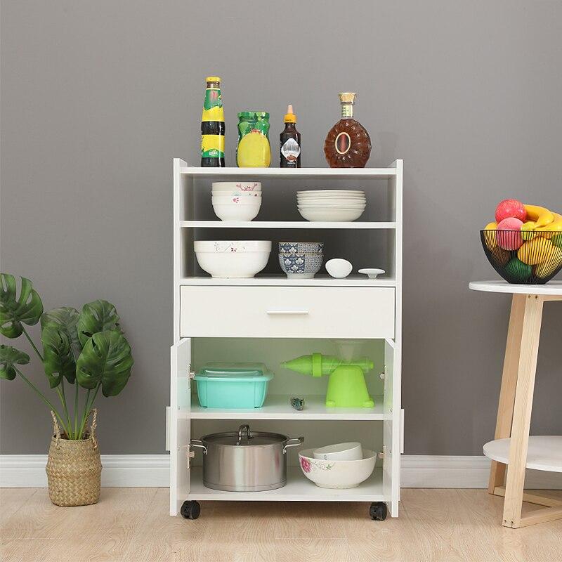 59*40*92cm porta dupla armário de jantar armazenamento multifuncional design casa prateleira cesta de armazenamento de jantar mobília do carro hwc