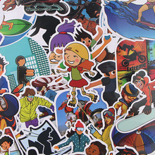36pcs/lot Diving Creative Sticker for Paper Album Notebook Adhesive Tape Car Luggage Diy Decoration Graffiti Stickers AT1994