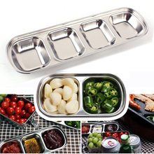 Outdoor barbecue dipping Disc stainless steel large multi-style flavor plate sauce seasoning  soy vinegar dish