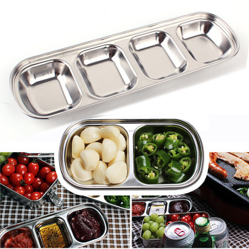 Outdoor barbecue dipping Disc stainless steel large multi-style flavor plate sauce seasoning  soy  vinegar dish seasoning dish creative nordic household ceramic snack pepper sauce dipping sauce seasoning tomato dip soy sauce vinegar dish