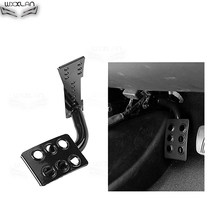 2019 New Black Metal Dead Pedal Pad Left Foot Rest Kick Panel For Jeep For Wrangler JK(China)