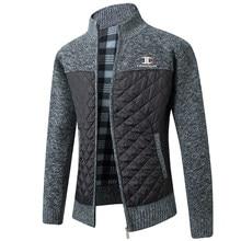 Marque chandail hommes printemps automne Cardigan sweatermanteaux mâle Patchwork polaire pleine fermeture éclair pull vestes tricots de style décontracté grande taille
