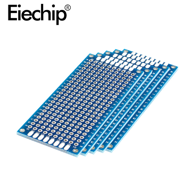 10pcs Electronic PCB Board 3x7cm Diy Universal Printed Circuit Board 3*7cm Double Side Prototyping PCB For Arduino Copper Plate 4