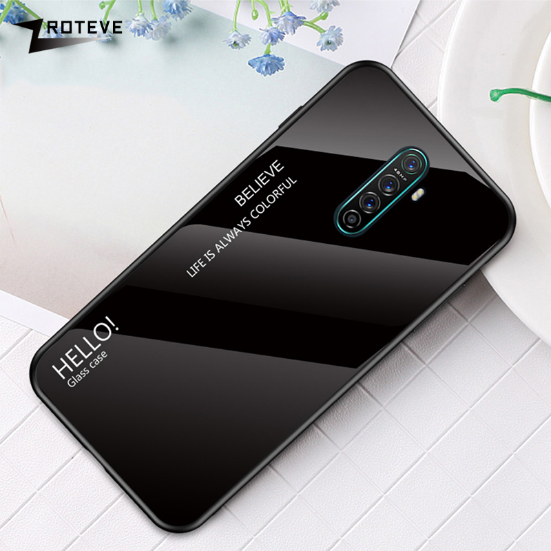 ZROTEVE Cover <font><b>OPPO</b></font> R11 R11S Plus R17 Pro <font><b>Case</b></font> Gradient <font><b>Glass</b></font> <font><b>OPPO</b></font> A5 <font><b>A3S</b></font> A7 A7X A83 A11 A9 F3 F5 F7 F9 F11 Pro Find X <font><b>Case</b></font> <font><b>Glass</b></font> image