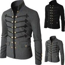 Mann Purim Viktorianischen Gothic Stil Jacke Zipper Christian Mittelalterlichen Ritter Mantel Solide Mittelalter Männlichen Karneval Kleidung
