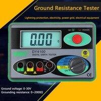 0-2000 Ом Цифровой Измеритель сопротивления заземления портативный реальный цифровой измеритель заземления 0 01 более высокая точность просто...