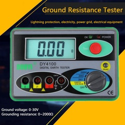 0-2000 Ohm Digital Earth Ground Resistance Tester Portable Real Digital Earth Meter 0.01Higher Accuracy Simple to Operate