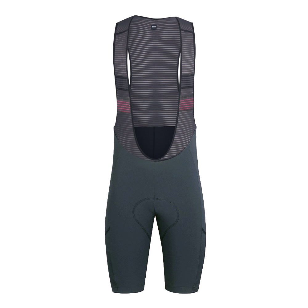 2019 SPEXCEL NEW DARK Gray CYCLING BIB SHORTS With Pocket Italy Pad Bib Shorts For 7-8 Hours Rider Best Quality
