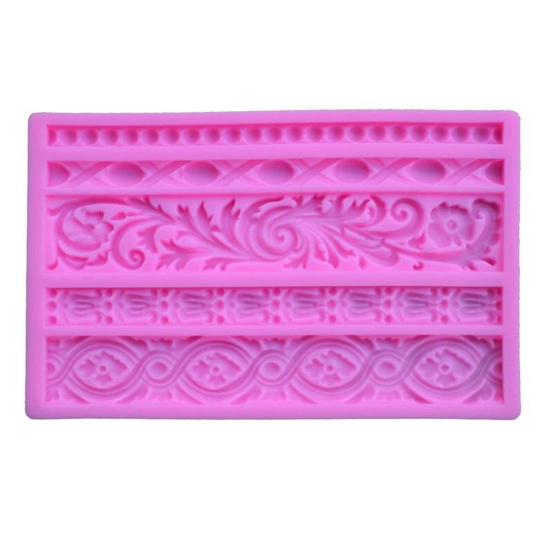 Flower Tape Shaped Silicone Mold Cake Decoration Fondant Cake 3D Mold Food Grade