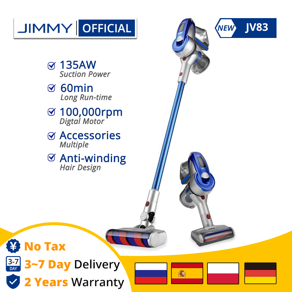 [Free Duty] JIMMY JV83 Wireless Handheld Cordless Stick Vacuum Cleaner Digital Motor 135W Strong Power 20kPa For Home