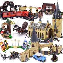 983pcst Magic Animals Castle Harris Building Blocks Brick Cartoon Action Figure Toys Game Model Anime Gift