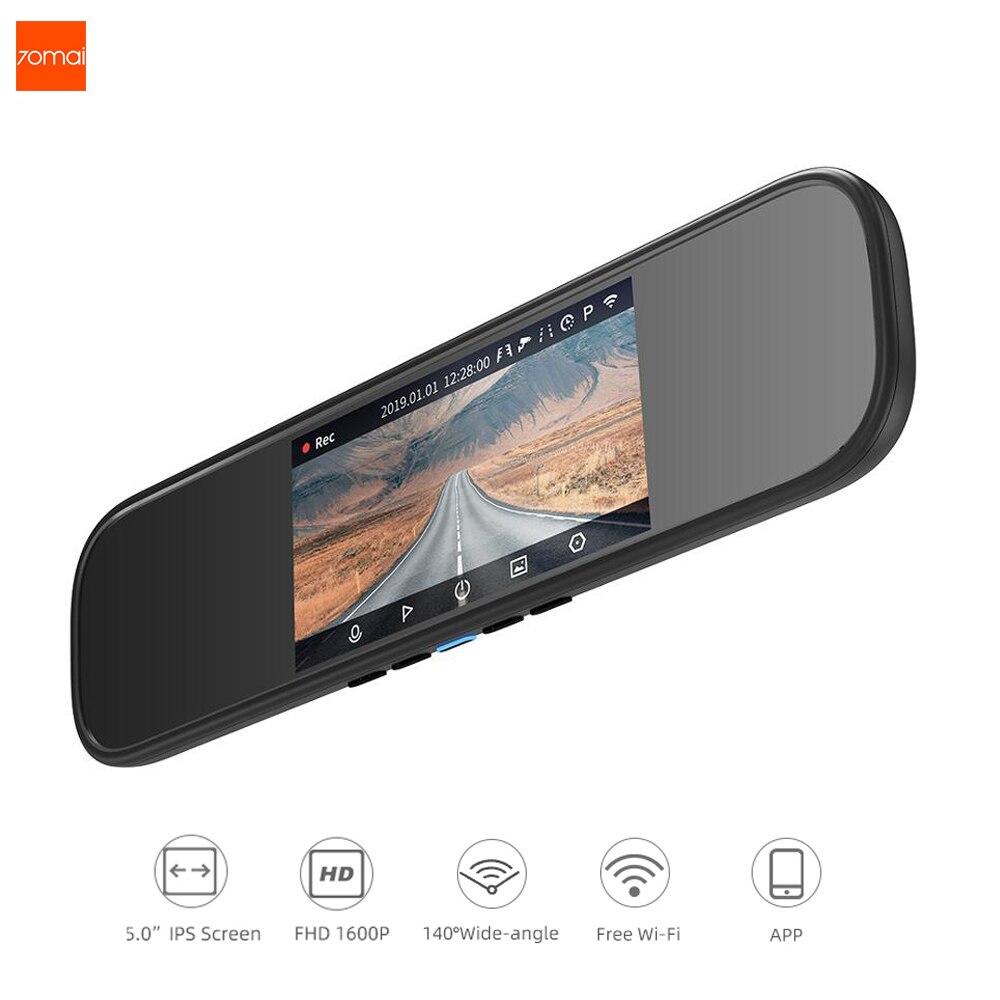 Espelho Retrovisor Traço Cam Wi-fi 1600P HD 70 70mai Mai 24 Dashcam Visão Traseira Do Carro DVR Câmera Gravador De Vídeo H Monitor de Estacionamento