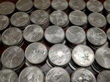 Set completo di 50 Uniti Condizioni Usato, 100% Reale Genuino Comemorative Moneta, Collezione Originale