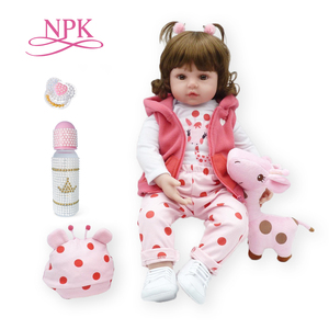 bebe doll reborn toddler 47cm soft silicone reborn baby dolls soft body lifelike menina Christmas surprice girl gifts doll