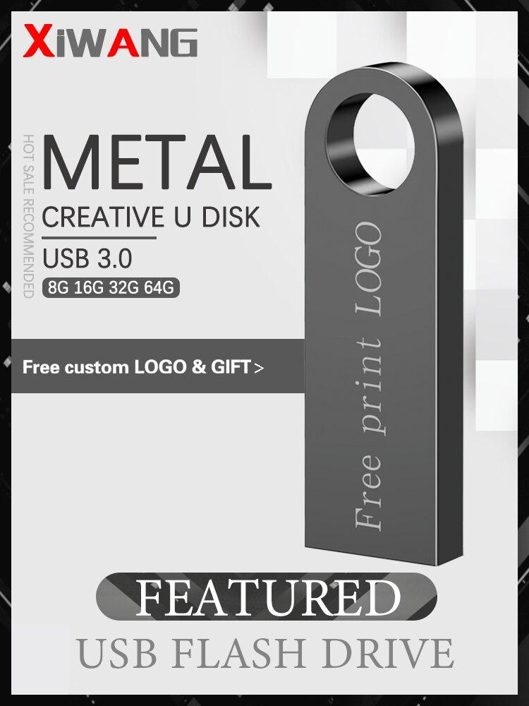 Cle Usb Stick Pen-Drive Flash-Memory Metal 128GB High-Speed 16GB 4GB 32GB 64GB