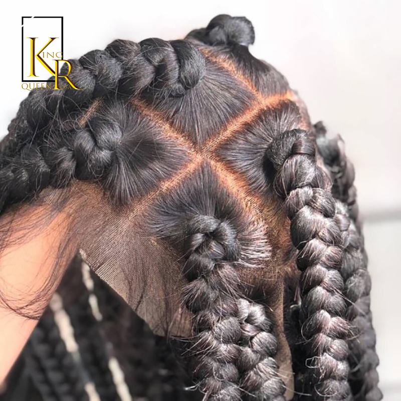 Full Lace Human Hair Wigs Pre Plucked Straight Brazilian Remy Hair Full Lace Wigs For Women Bleached Knots King Rosa Queen Hair