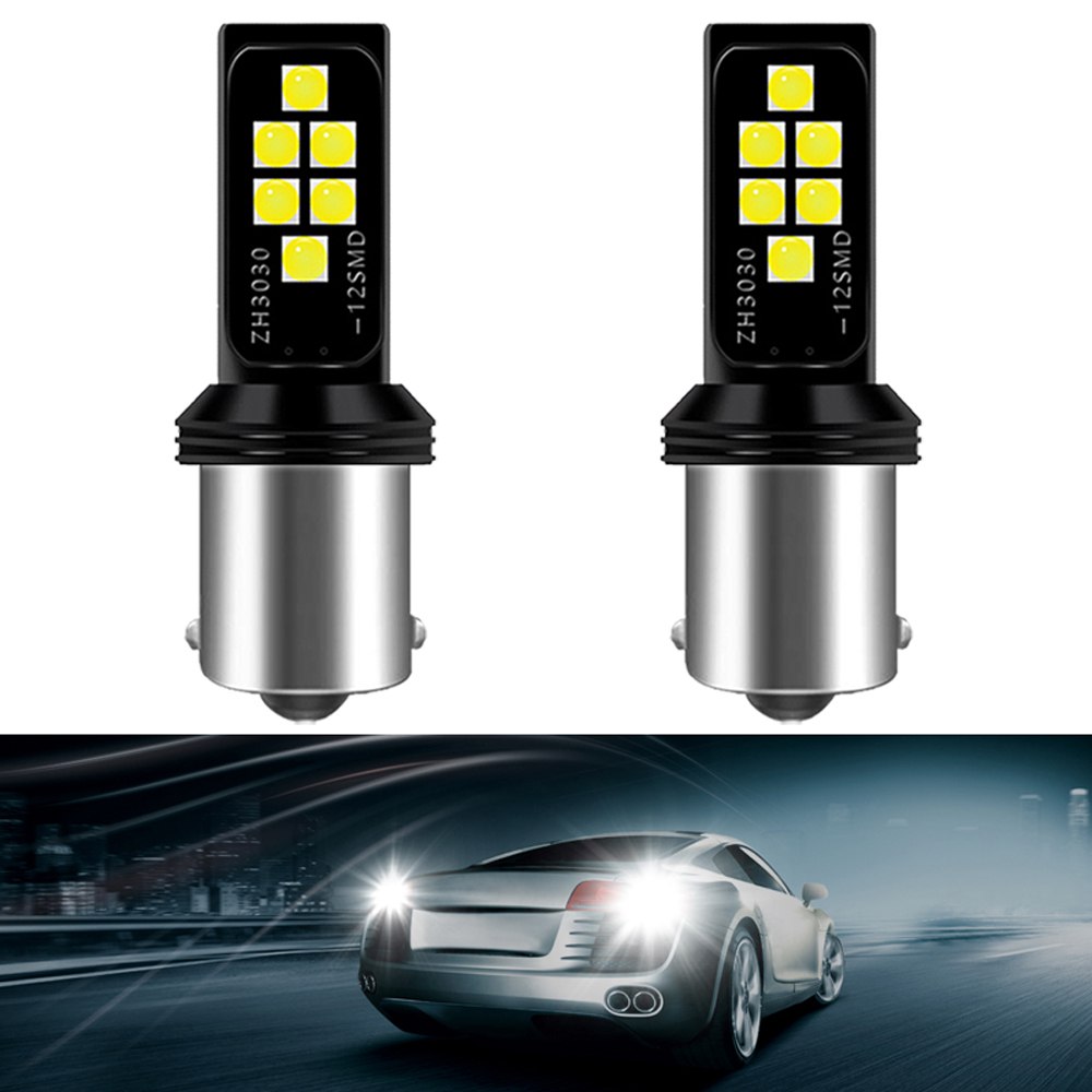 2X P21W BA15S W16W 1156 Car LED Reverse Light Bulb Auto Backup Lamp For Kia Rio 3 4 Optima K5 Sportage 2019 Ceed KX5 K2 white image