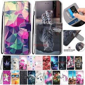 Для Alcatel 3x (2018) окрашенный Coque флип чехол для телефона из искусственной кожи для Alcatel 3X2018 Fundas кошелек держатель для карт подставка обложка кни...
