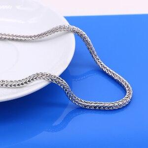 Image 3 - Männer der 925 Sterling Silber Halsketten Dragon 925 Splitter Beliebte Halsketten Solide Silber Körper Kette Schmuck Vintage Zubehör