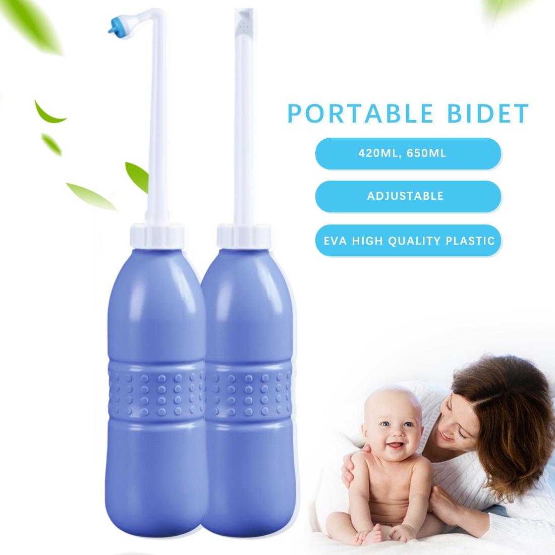 Hand Held 420ml/450ml/650ml  EVA Portable Sprayer  Travel Bidet Toilet Seat Tackle  Bidet Bottle Washing Toilet Personal Cleaner