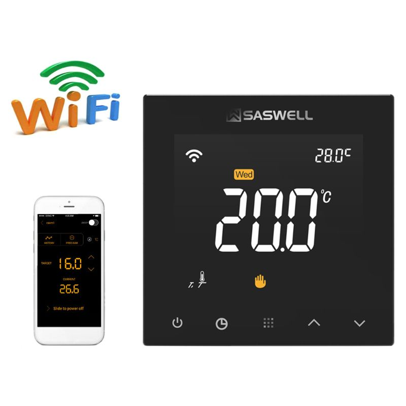 WIFI Thermostat Controller For Water Floor Heating Room Temperature Programmable