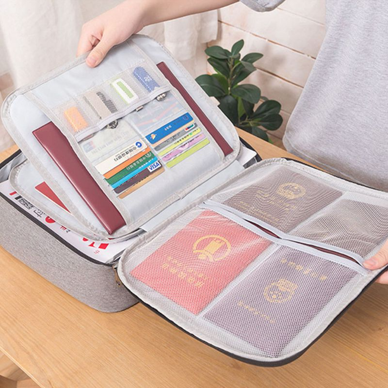 Document Ticket Bag 2 Layers Large Capacity Waterproof Organizer For Home Travel