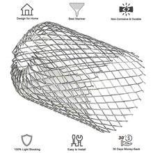 4 шт. открытый садовый желоб защита Слива расширяемая крышка сетки алюминиевый фильтр Стоп Блокировка Eave листья мусора 3 дюймов практичный