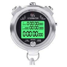 YS – chronomètre numérique en métal, avec rétro-éclairage, mémoire multi-tours, chronomètre pour coach
