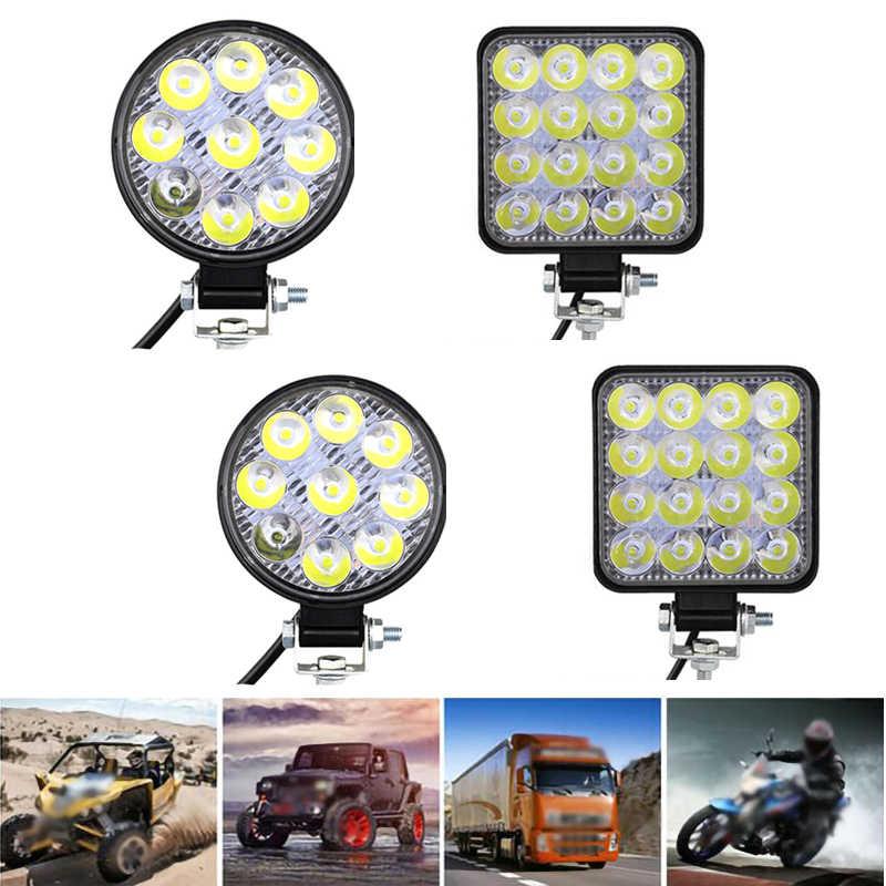 Рабочий СВЕТОДИОДНЫЙ светильник 27 Вт 48 Вт автомобильный светильник яркий луч грузовик Трактор Лодка прицеп 12 В 24 в светодиодный для 4x4 ATV SUV точечный светодиодный светильник для вождения