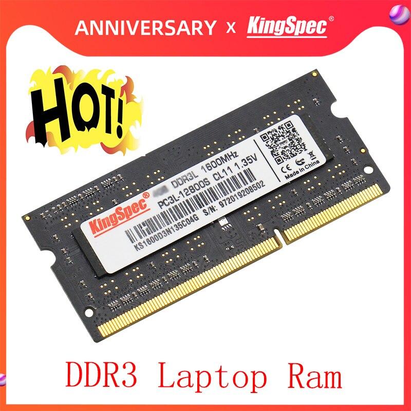 KingSpec Ddr3 8GB 4GB 1333 1600 Sodimm RAM Memoria Ram For Laptop Ddr 3 1600MHz Ram Ddr3 4gb 8gb Notebook